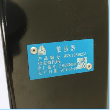 WG9719530231forSINOTRUCK